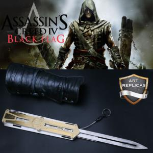 ASSASSIN'S CREED IV - REPRODUCTION LAME RETRACTABLE + GARDE BRAS (ART REPLICAS)