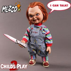 CHUCKY 2 - AUTHENTIC MOVIE PROP REPLICA TAILLE 1/1 OFFICIELLE (SNEERING PUPPET - MEZCO)