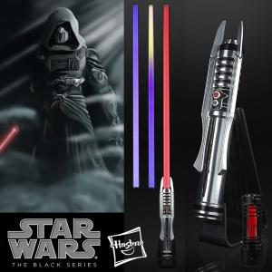 STAR WARS - SABRE LASER DARK REVAN FX ELITE AVEC LAME AMOVIBLE (2 COULEURS) ET CRYSTAL AMOVIBLE (HASBRO - THE BLACK SERIES)