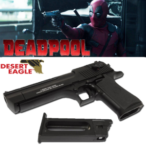 DEADPOOL - PISTOLET OFFICIEL FULL-AUTO AVEC RETOUR DE CULASSE + CARTOUCHE CO2 (LICENCE DESERT EAGLE)