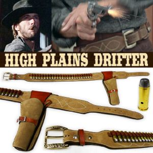 HIGH PLAINS DRIFTER - PACK : CEINTURON + HOLSTER + 25 BALLES PROP REPLICAS (TAILLE 50 US)