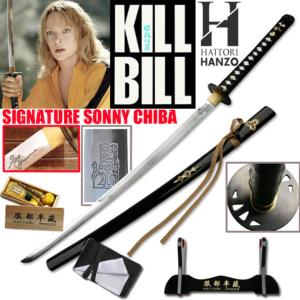 KILL BILL - BRIDE KATANA SIGNATURE EDIT. SONNY CHIBA : PACK OFFICIEL HATTORI HANZO SABRE FORGE MAIN
