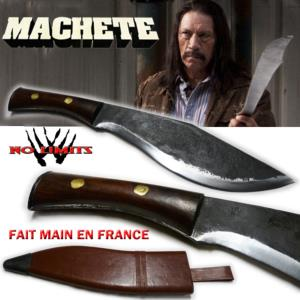 MACHETE - KUKRI REPRODUCTION AUTHENTIQUE (FAIT MAIN EN FRANCE - PRACTICAL - ARTISAN FORGERON)