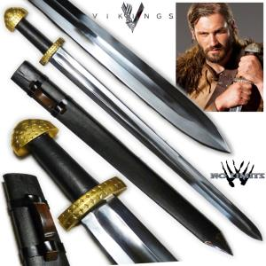 VIKINGS (SERIE) - EPEE ROLLO REPRODUCTION AUTHENTIQUE (PRACTICAL MAITRE FORGERON - NO LIMITS)