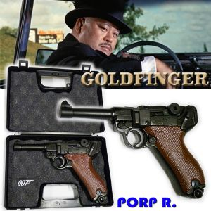 JAMES BOND : GOLDFINGER - ODDJOB GUN (LUGER P08) & MALLETTE