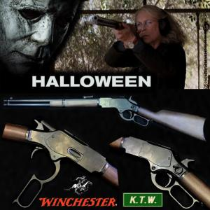 HALLOWEEN (2018) - FUSIL WINCHESTER LAURIE STRODE OFFICIEL M1873 (K.T.W. AIRSOFT)