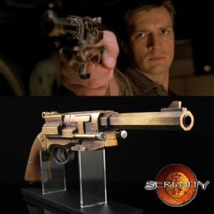 SERENITY - PISTOLET OFFICIEL MALCOLM REYNOLDS METAL-PLATED LIMITED EDITION