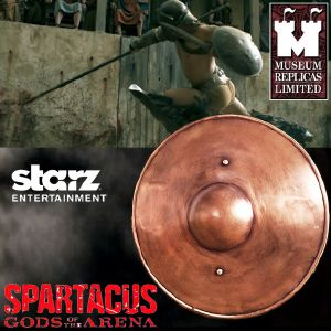 SPARTACUS : GODS OF THE ARENA - BOUCLIER GLADIATEUR OFFICIEL (STARZ ENTER. LLC - WINDLASS STUDIOS)