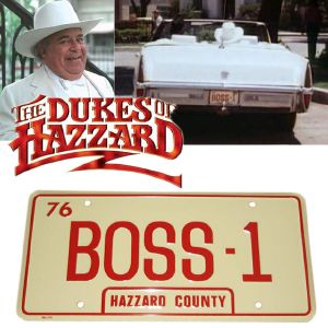 THE DUKES OF HAZZARD (SERIE) - PLAQUE MINERALOGIQUE BOSS-1 (PROP REPLICAS USA)