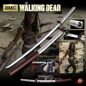 WALKING DEAD (THE) - SABRE MICHONNE OFFICIEL LIMITED EDITION AVEC SUPPORT BOIS DELUXE ET POSTER