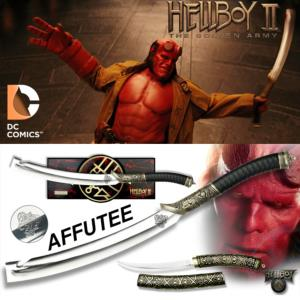 HELLBOY II, THE GOLDEN ARMY - EPEE HELLBOY LIMITED EDITION EXCLUSIF AFFUTEE + DAGUE BONUS OFFERTE