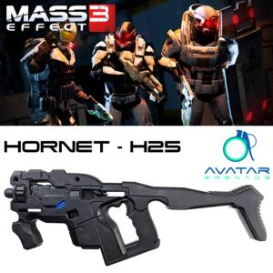 MASS EFFECT 3 - KIT HORNET H-25 PULSE RIFLE OFFICIEL ECHELLE 1/1 (AVATAR - BLACK OBSIDIAN)