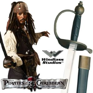PIRATES DES CARAIBES - SABRE OFFICIEL JACK SPARROW (WINDLASS STUDIOS)