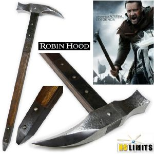 ROBIN HOOD (RIDLEY SCOTT) - MARTEAU D'ARME REPRODUCTION AUTHENTIQUE (ARTISAN FORGERON - NO LIMITS)