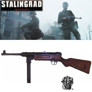 STALINGRAD (ENEMY AT THE GATES) - FUSIL D'ASSAUT MP41 TOUT EN METAL ET BOIS MASSIF VERSION DENIX