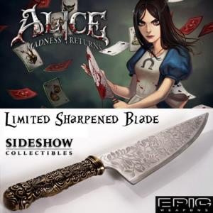 ALICE MADNESS RETURNS - COUTEAU VORPAL BLADE OFFICIEL EDITION LIMITEE EXCUSIVE AFFUTEE TRANCHANT