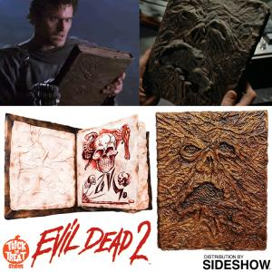 "EVIL DEAD 2 - LIVRE OFFICIEL ""BOOK OF THE DEAD NECRONOMICON"" PROP REPLICA ECHELLE 1/1 (TOT STUDIOS - SIDESHOW)"