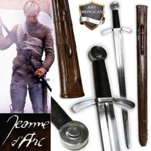 JEANNE D'ARC - SWORD FIGHTING DELUXE + FOURREAU CUIR MOULE (PRACTICAL - EPEE DE FRAPPE)