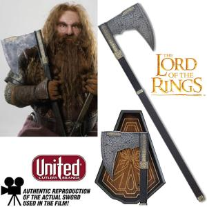 LOTR - GIMLI HACHE OFFICIELLE (BEARDED AXE - UNITED CUTLERY BRANDS)