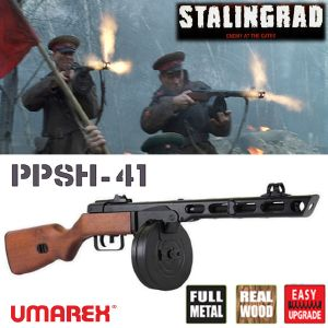 STALINGRAD (ENEMY AT THE GATES) - FUSIL D'ASSAUT PPSH-41 AUTOMATIQUE TOUT EN METAL ET BOIS VERITABLE