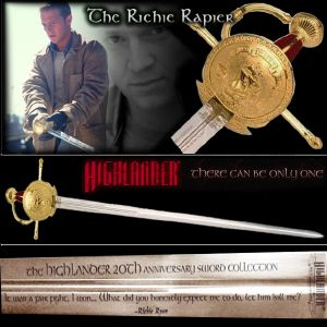 HIGHLANDER (SERIE) - RICHIE RAPIER OFFICIELLE LIMITED EDITION MARTO (IMPORT USA 20TH CENTURY FOX)