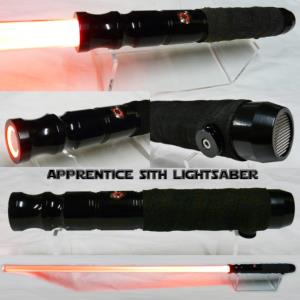 "STAR WARS - SABRE LASER ""SITH APPRENTICE LIGHTSABER"" LEATHER HILT (LAME AMOVIBLE & POIGNEE CUIR)"
