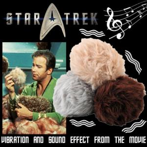 STAR TREK - LOT DE 3 PELUCHES 'TRIBBLE' VIBRANTES ET SONORES ECHELLE 1:1 OFFICIELLES