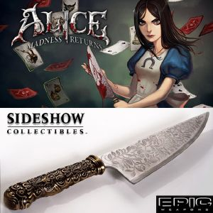 ALICE MADNESS RETURNS - COUTEAU VORPAL BLADE OFFICIEL EXCLUSIF AFFUTE