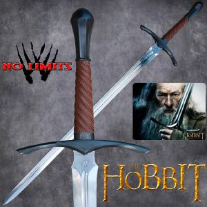 THE HOBBIT - EPEE GANDALF REPRODUCTION AUTHENTIQUE (PRACTICAL MAITRE FORGERON - NO LIMITS)