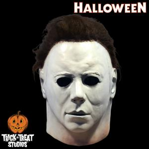 HALLOWEEN (1978) - MASQUE OFFICIEL DE MICHAEL MYERS AVEC SUPPORT TETE DE MANNEQUIN (TOT STUDIOS)