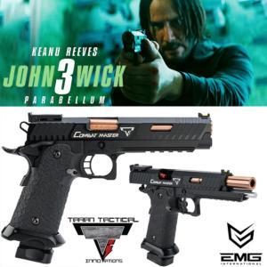 JOHN WICK 3 : PARABELLUM - PISTOLET EMG 2011 TARAN TACTICAL INNOVATIONS LICENCE OFFICIEL LIMITED EDITION