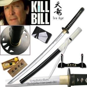 KILL BILL - BUDD SWORD : PACK OFFICIEL HATTORI HANZO SABRE FORGE MAIN (PRACTICAL)