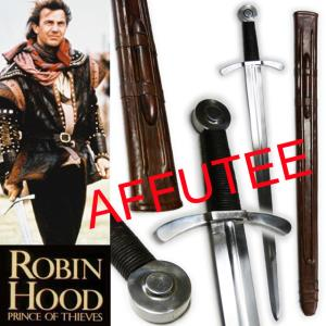 ROBIN HOOD, PRINCE OF THIEVES - EPEE DE COMBAT AFFUTEE TRANCHANT (PRACTICAL)