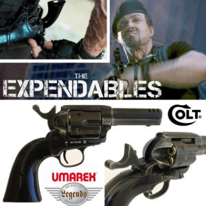 THE EXPENDABLES - REVOLVER BARNEY ROSS COLT S.A.A. .45 CUSTOM OFFICIEL TOUT METAL