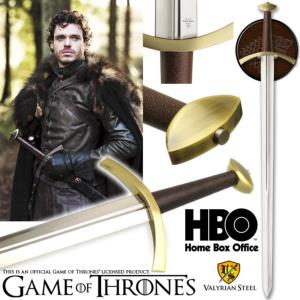 GAME OF THRONES - EPEE DE ROBB STARK OFFICIELLE NUMEROTEE LIMITED EDITION AVEC LAME ACIER CARBONE