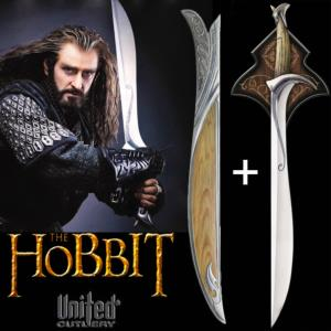 "THE HOBBIT - EPEE & FOURREAU ""ORCRIST"" DE THORIN OAKENSHIELD OFFICIEL (UNITED CUTLERY)"