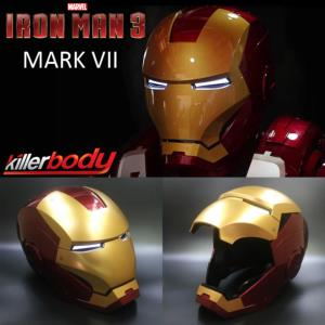 IRON MAN 3 - CASQUE INTEGRAL MARK VII OFFICIEL OUVERTURE MOTORISEE, SON & LEDS (MARVEL - KILLERBODY)