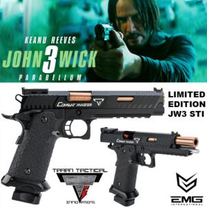 JOHN WICK 3 : PARABELLUM - PISTOLET EMG TARAN TACTICAL INNOVATIONS LICENCE OFFICIEL LIMITED EDITION