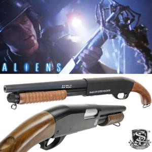 ALIENS - SHOTGUN OFFICIEL TOUT METAL ET BOIS VERITABLE (FUSIL A POMPE M870 S&T SAWED OFF)