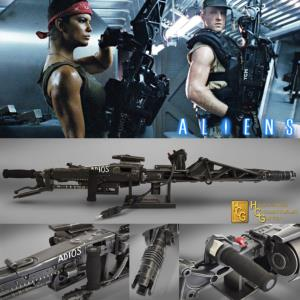ALIENS - MITRAILLEUSE M56 SMARTGUN OFFICIEL ECHELLE 1:1 (ALIENS™ 20TH CENTURY FOX - HCG)