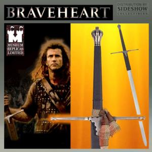 BRAVEHEART -  WILLIAM WALLACE EPEE OFFICIELLE VERSION FORGE MAIN (SIDESHOW - WINDLASS STUDIO)