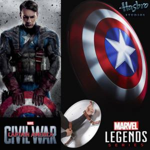 CAPTAIN AMERICA 3 : CIVIL WAR - BOUCLIER OFFICIEL (HASBRO - MARVEL LEGENDS - VERSION PVC)