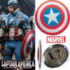 CAPTAIN AMERICA - BOUCLIER OFFICIEL TOUT EN METAL VERSION DELUXE