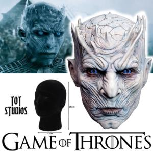 GAME OF THRONES - MASQUE OFFICIEL NIGHT KING AVEC SUPPORT (HBO - TOT STUDIOS)