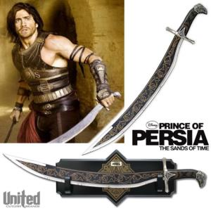 PRINCE OF PERSIA (DISNEY) - SABRE DASTAN OFFICIEL + SUPPORT BOIS (UNITED CUTLERY)