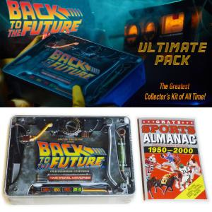 "RETOUR VERS LE FUTUR - COFFRET COLLECTOR OFFICIEL TIME TRAVEL MEMORIES KIT PLUTONIUM ULTIMATE EDITION + ALMANACH "" GRAYS SPORTS ALMANAC 1950-2000 "" OFFICIEL"