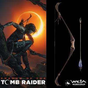 TOMB RAIDER (SHADOW OF THE) - REPLIQUES ARC & FLECHE OFFICIELS LARA CROFT TAILLE 1/1 (WETA COLLECT.)