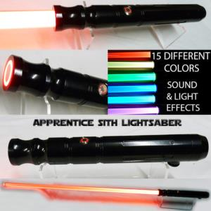 "STAR WARS - SABRE LASER ""SITH APPRENTICE"" (FAIT MAIN - LAME AMOVIBLE & COULEUR INTERCHANGEABLE)"