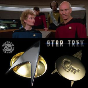 STAR TREK : THE NEXT GENERATION - TNG COMMUNICATOR STARFLEET BADGE OFFICIEL