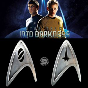 STAR TREK - PACK 2 BADGES OFFICIELS STARFLEET COMMAND & SCIENCE DIVISION